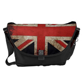 Vintage Grunge UK Flag Courier Bag