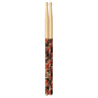 Vintage Grunge UK Flag Personalized Drumsticks