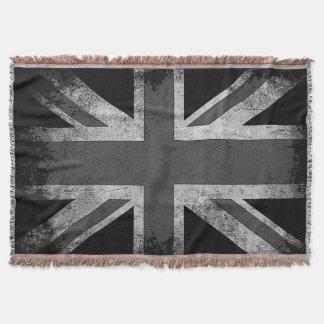 Vintage Grunge UK Flag Throw Blanket