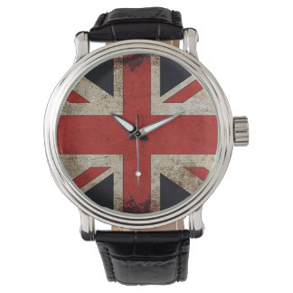Vintage Grunge UK Flag Watch
