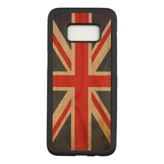 Vintage Grunge Union Jack UK FLAG Carved Samsung Galaxy S8 Case
