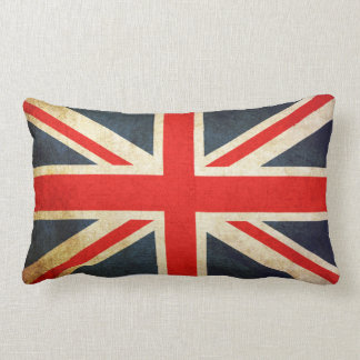 Vintage Grunge Union Jack UK FLAG Lumbar Pillow