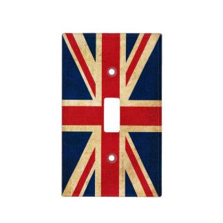 Vintage Grunge United Kingdom Flag Union Jack Light Switch Cover