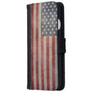 Vintage Grunge US Flag iPhone 6 Wallet Case