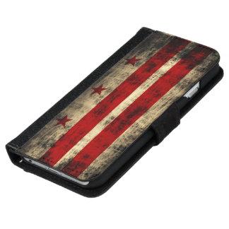 Vintage Grunge Washington D.C. Flag iPhone 6 Wallet Case
