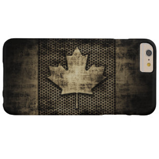 Vintage Grungy Metal Look Canadian Flag Barely There iPhone 6 Plus Case