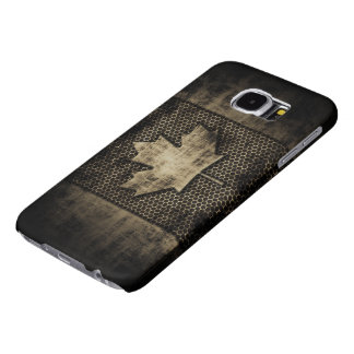 Vintage Grungy Metal Look Canadian Flag Samsung Galaxy S6 Cases
