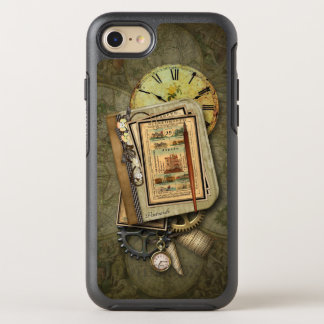 Vintage Grungy Travel Steampunk Collage OtterBox Symmetry iPhone 8/7 Case
