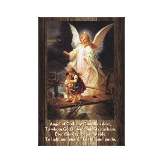 Vintage Guardian Angel Canvas Print