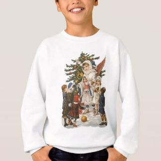 Vintage Guardian Christmas Angel with Kids & Tree Sweatshirt