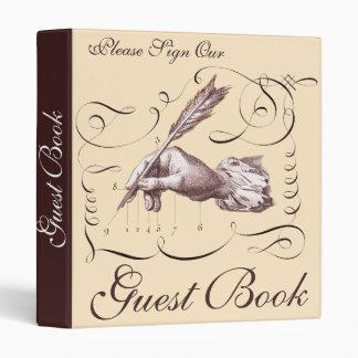 Vintage Guest Book Binder for Hotel, Restaurant