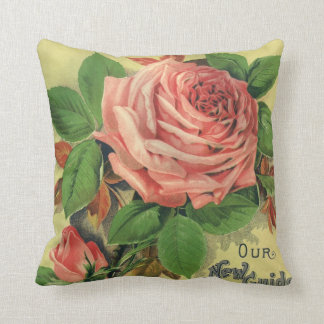 Vintage Guide to Rose Culture Book Cover Art, 1891 Throw Pillow