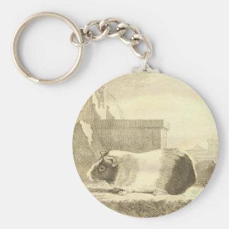 Vintage Guinea Pig Keychain