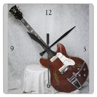 Vintage Guitar Wall Clock