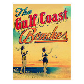 Vintage Gulf Coast Florida Beaches Post Card