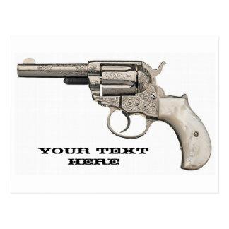 Vintage Gun Shoot A Message Off Postcard