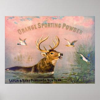 Vintage Gunpowder Ad 1873 Poster