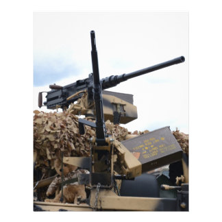 Vintage Guns On WWII Armor Letterhead Design