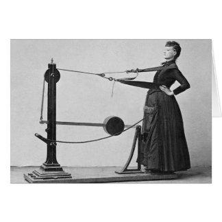 Vintage Gym Lady Card