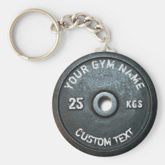 Vintage Gym Owner or User Fitness Funny Basic Round Button Keychain