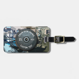 Vintage Gym Owner or User With Fitness Funny Luggage Tag