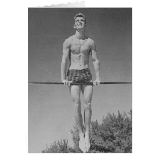 Vintage Gymnast Card