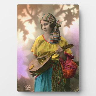 Vintage Gypsy Girl  Photo Plaque