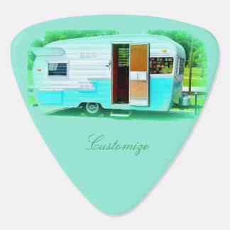 Vintage gypsy trailer Thunder_Cove On caravan Guitar Pick