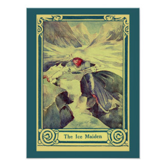Vintage H.C. Andersen fairy tale The Ice Maiden Poster