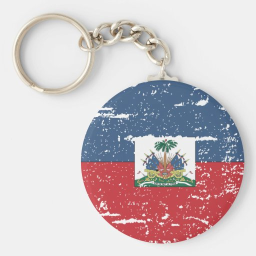 Vintage Haiti Flag Key Chains