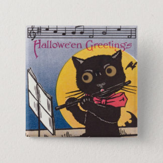 Vintage Halloween 2 Inch Square Button