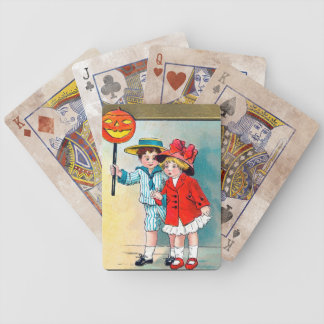 Vintage Halloween Art Playing Cards