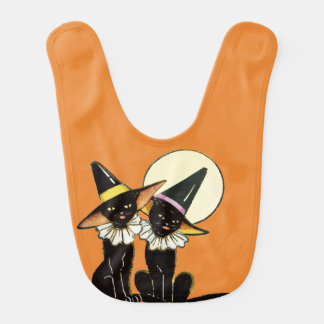 Vintage Halloween Cats Bib