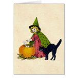 Vintage Halloween Child Greeting Card