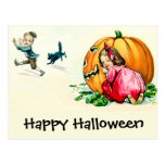 Vintage Halloween Children Having Fun Postcard