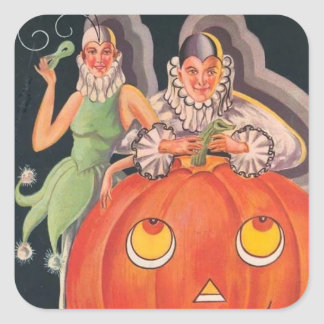 Vintage Halloween Costume Party Square Sticker