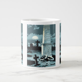 Vintage Halloween, Creepy Cemetery with Graves Large Coffee Mug