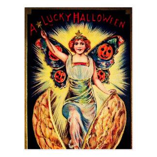 Vintage Halloween fortune teller Holiday postcard