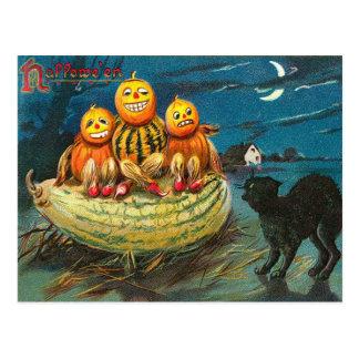 Vintage Halloween Gourds, Hallows Postcard