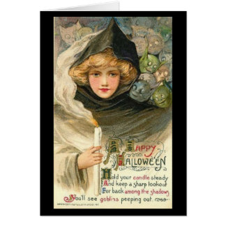Vintage Halloween Greeting Card