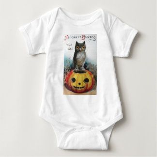 Vintage Halloween Greeting Cards Classic Posters Baby Bodysuit