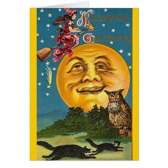 Vintage - Halloween - Halloween Greetings Card