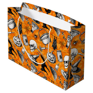 Vintage Halloween Large Gift Bag