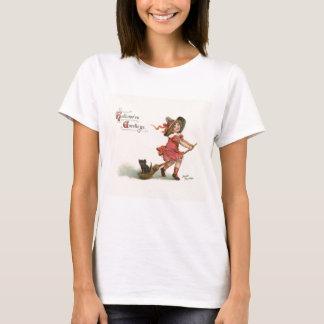 Vintage Halloween Little Witch T-Shirt