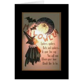"Vintage Halloween ""Love spell"" Card"