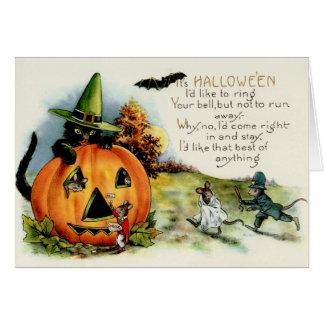 Vintage Halloween Myth Card