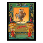 Vintage Halloween Owl Post Cards