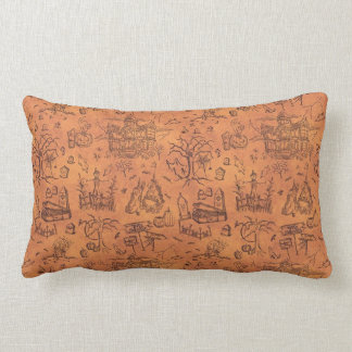 Vintage Halloween Pattern Lumbar Pillow