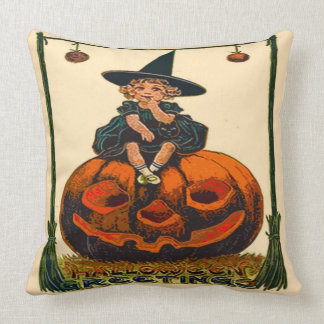 "Vintage Halloween Polyester Throw Pillow 20"" x 20"""