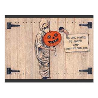 Vintage Halloween Postcard/Invitation, Circa 1920 Postcard